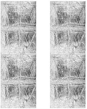 DaSen 2 Pcs 12 x 385 Car Noise Sound Deadener Deadening Insulation Mat Professional Motorcycle Bodywork Grade Pre Heat Shield Cover For ABS Fairing Car Truck Heatshield Heating6 Sq Foot