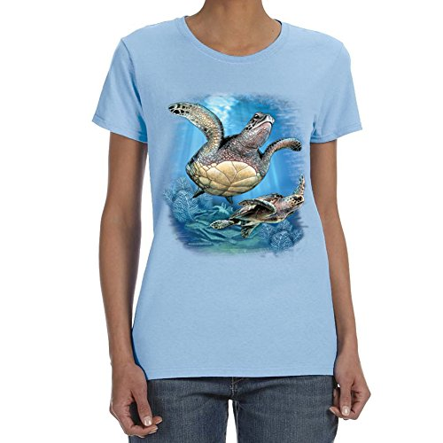 Women's 2 SEA TURTLES T-shirt (Small)