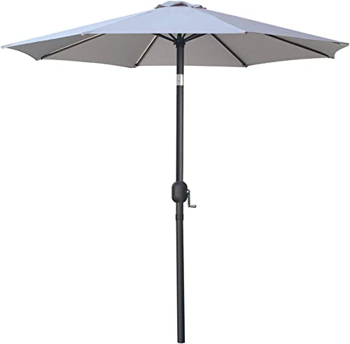 MASTERCANOPY Patio Umbrella Outdoor Fe-Al Market Table Umbrella