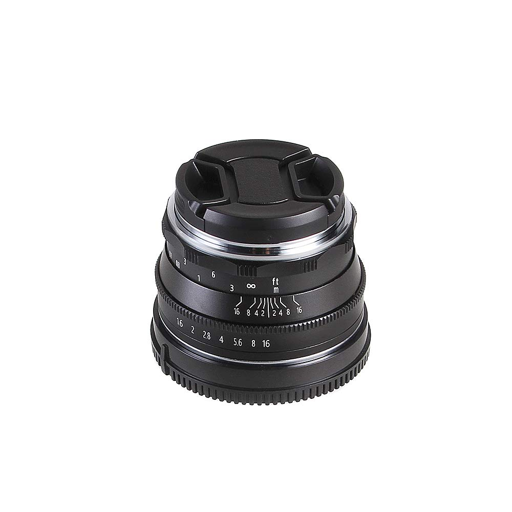 Fotga 35mm F1.6 Manual APS-C Fixed Lens for Mirrorless Camera Fujifilm X-A1 X-A10 X-A2 X-A3 X-A5 X-A20 X-M1 X-T1//2//3 X-T10 X-T20 X-T100 X-PRO1//2 X-E1//2//3 X-H1
