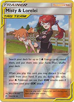 Sun Moon Cosmic Eclipse 4... Misty /& Lorelei 199//236 Pokemon Trainer Set