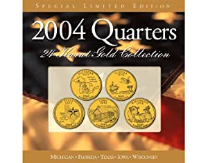 2004 24 Kt Gold Plated Annual State Quarter Collection