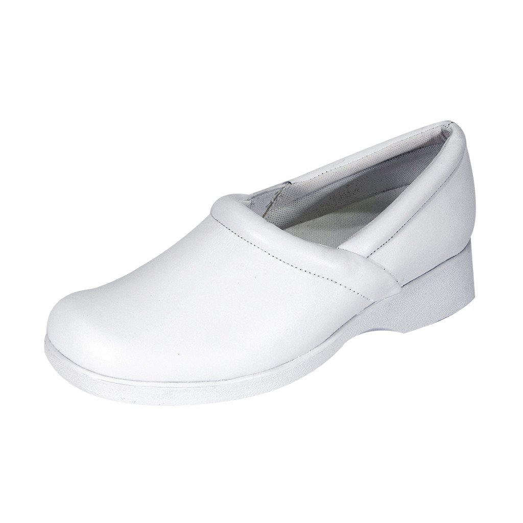 24 Hour Comfort Carol (1029) Women Wide Width Comfort Slip-On Shoes White 10 by 24 Hour Comfort