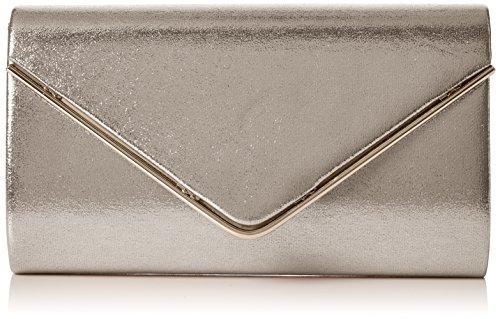 Swanky Swans Kim Metallic Envelope Bag - Carteras de mano Mujer Plateado (Silver)