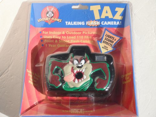Looney Tunes Taz Talking Point and Shoot Flash Camera (110 Film & 1 AA Battery Required)