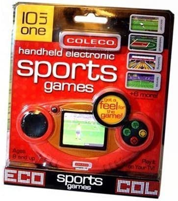 Amazon.com: Coleco Sports Handheld and Plug-N-Play TV Video Game - 10 in 1  Games: Toys & Games
