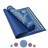Zen 5 Yoga Mat (Blue Mandala on White, 4mm)