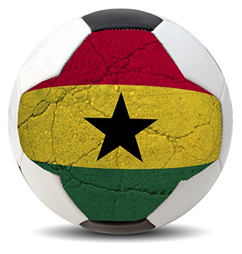 Customized Country Soccer balls for International COPA World Cup Euro League and America (USA, Brazil, Mexico, Spain, Germany, France and more) (Ghana)