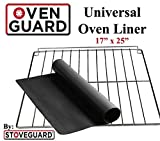 Premium Universal XL Oven Liner 17''x25'' | GRILL MAT | 100% FDA approved & BPA Free | Cut-to-Fit your Oven | Dishwasher Safe