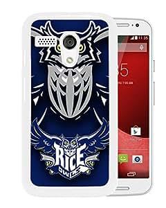 NCAA Rice Owls 3 White Customize Motorola Moto G Phone Cover Case