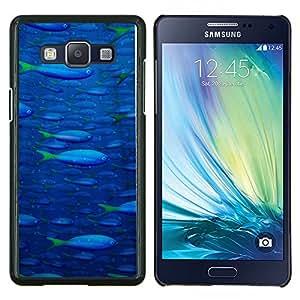 YiPhone /// Prima de resorte delgada de la cubierta del caso de Shell Armor - Pintura de los pescados de mar del océano azul de Vida Silvestre de la nadada Arte - Samsung Galaxy A5 A5000