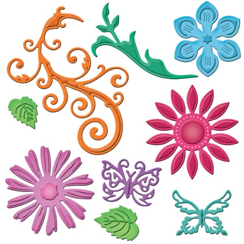 Spellbinders S5-143 Shapeabilities Positively Me Jewel Flowers and Flourishes Die Templates (Jewel Shapeabilities)