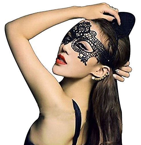 HLLWN Expresss, Masquerade Party Cosplay Lace Cutout Veil Mask 2014 HLWMSK45 (Sexy Plus Size Costume)