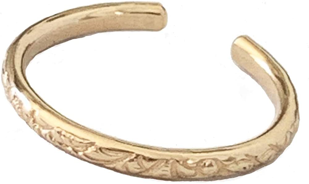 Toe Ring | Hawaiian Breeze Gold Fill Adjustable Toe Ring | One Size Fits Most