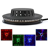Mini 48 LEDs RGB Stage Sunflower Lighting Bar Disco Decor Hanging Wall Lamp Party Show Decor Rotating Lamp LS-RGB48
