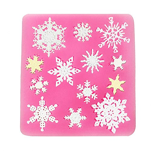 - Moldfun 3D Christmas Decorations Snowflake Lace Party DIY Silicone Mold for Fondant Chocolate Candy Gum Paste Polymer Clay Resin Kitchen Baking Sugar Craft Cake Cupcake Decorating Tools