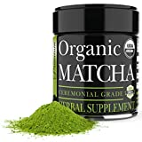 Ceremonial Matcha Green Tea Powder - 1 Ounce - Highest Quality Japanese Matcha - Perfect for Tea Ceremonies - Made From 100 Percent Organic Tea Leaves - Detox Tea