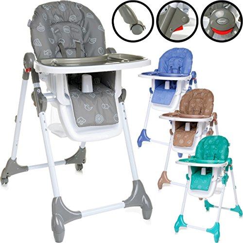 Hochstuhl / Kinderhochstuhl / Babyhochstuhl (6-Fach Höhenverstellbar) PREMIUMQUALITÄT (GRAU)