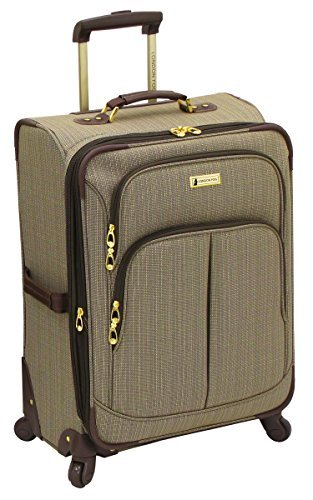 London Fog Chatham 360 Collection 24 Inch Expandable Upright Tan One Size [並行輸入品] B07FGDS9KG