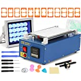 VEVOR LCD Screen Separator Machine Touch Digitizer Screen Separator Glass Plate Built-in Vacuum Pump Screen Repair Machine with 12 Molds (with 12 mold)