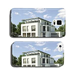 Modern house white cell phone cover case Samsung S6