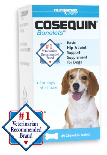 Cosequin Bonelets Hip and Joint Support Tablet, 85 count, My Pet Supplies