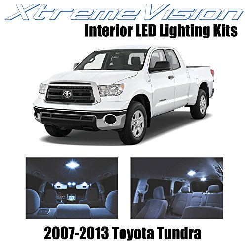 XtremeVision Toyota Tundra 2007-2013 (14 Pieces) Cool White Premium Interior LED Kit Package + Installation Tool Tool