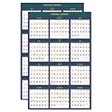 Four Seasons Reversible/Erasable Business/Academic Calendar, 24 x 37,