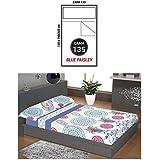 """ADP Home - Juego de sábanas 3 piezas """"blue paisley"""" (funda de almohada, bajera ajustable y sábana encimera), cama de 135 cm"""