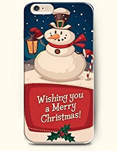 New Case Cover For Apple Iphone 6 4.7 Inch Hard Case Cover - SnoHolding a Handed Lamp - Wishing you a Merry Christmas!