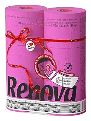 Renova Red Label Maxi Toilet Paper, Fucsia
