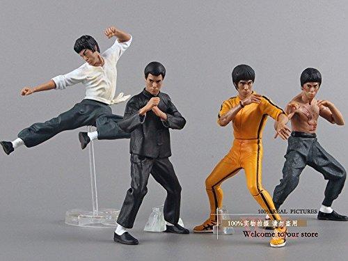 Bruce Lee Kung Fu (10cm 4pcs/set) PVC Action Figures Collection Toys