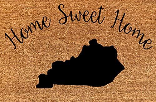 KiwiCraftdom - U.S.A. Kentucky State Silhouette - Home Sweet Home - Large 35