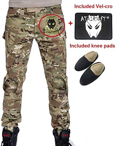 Mens Tactical Pants Combat Army Outdoor Cargo Military Casual Trousers MC Camo