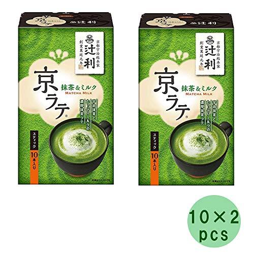 Tsujiri Matcha Milk Kyo Late Stick 10pcs × 2Set 4.9oz Japanese Green Tea Powder Kataokabussan Ninjapo