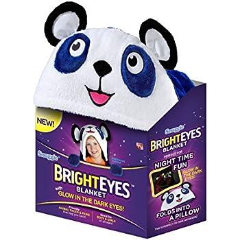 Amazon Com Bright Eyes Blanket Blue Panda Home Amp Kitchen
