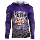 NFL Baltimore Ravens Super Bowl XXXV Champions Hoody Tee, Large
