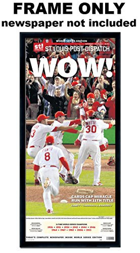 Louis Cardinals Wall Hanging - St Louis Post Dispatch - St Louis Cardinals Newspaper Frame