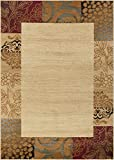 Universal Rugs 105202 Ivory 5×7 Area Rug, 5-Feet by 7-Feet