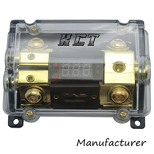 Way Distribution Amp (Car Audio Digital Led Display Fuse Holder ANL Include 2 Fuses Distribution block 1 way in 2 way out)