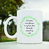 I'd Rather Wear Flowers in My Hair Than Diamonds Around My Neck Cute Funny 11oz Ceramic Coffee Mug Cup