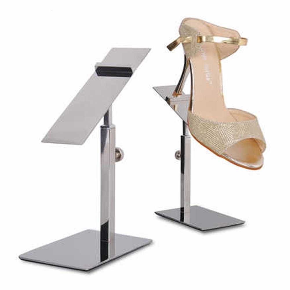 1 Pack Adjustable Metal Shoe Display Stand Shoe Rack