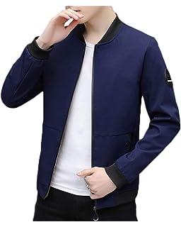 21d6d8032fdd Homme Blouson Léger en Montant Casual Manches Longues Affaires Slim Fit  Jacket Vest