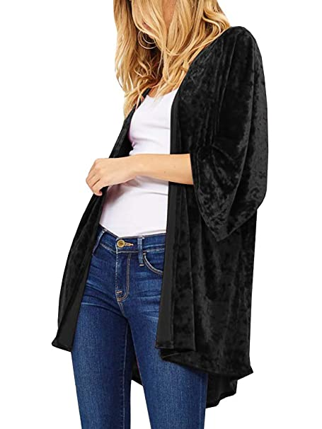 Amazon.com: Imily Bela - Kimono de terciopelo para mujer ...