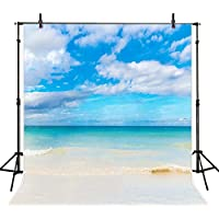 8x8FT Sea Beach Backdrop Photography Props Beach Wedding Photo Backdrop Photography Computer Printed Photo Backgrounds M6911