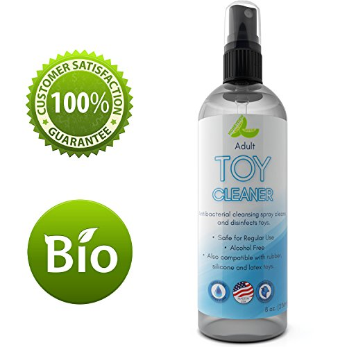 Anti Bacterial Toy Cleaner – Hypoallergenic Disinfectant Spray for Toys for Adults for Sex – Best Water Based Erotic Toy Cleaner – Natural Cleaning Products for Sensitive Skin – Silicone Toy Cleaner