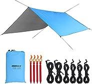 WoneNice 10 x 13 Ft Camping Hammock Tarp, Waterproof Windproof Lightweight Durable Rainfly Shelter. Perfect Te