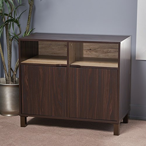 Provence 2-Shelf Walnut Finished Faux Wood Cabinet with Sanremo Oak Interior by Great Deal Furniture (Image #2)