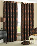 Camelot Paprika Eyelet Ring Top Curtains 117 x 137