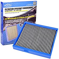 Potauto MAP 5010 (CF10140) Re-Washable Cabin Air Filter Cleans Airflow for Infiniti, G35, FX35, FX45, Mitsubishi, Lancer, Outlander, RVR, Nissan (Re-Washable, Blue)